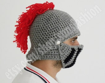 Winter Hats Game of thrones Boyfriend gift Winter hat Knight Helmet Mens hat gift  Crochet bike mask Winter Knit Cap, Mens Knitted Beanie