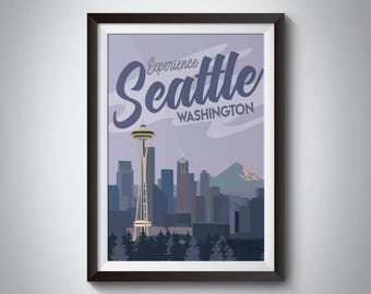 Seattle | Travel Poster | Instant Download