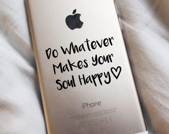 Happy Soul Sticker, Inspirational Laptop Decal, MacBook Stickers, Motivational Quote, New Job Gift, Phone Vinyls, Graduation Gifts.