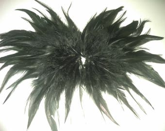Black swan feathered nipple pasties