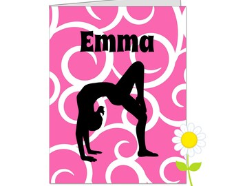 Personalized Gymnastics Folder - Gymnast Pocket Folder for Girls - Custom School Folder - Gymnast Folder with Name - Back to School Gift