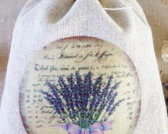 LAVENDER SACHET, PARISIAN Provence Lavender Sachet, French Lavender Drawer Sachet, Sleeping Calm Aromatic Lavender Sachet 3 for 20.00
