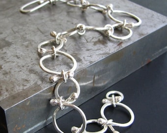 Persie Bracelet: Sterling Silver Handcrafted Round Links