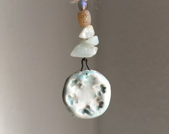 Snowflake primitive Single Earring with Antique Earhook