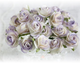 Mulberry Roses~Touch of Lilac~ Set of 20 for Scrapbooking, Cardmaking, Altered Art, Wedding, Mini Album