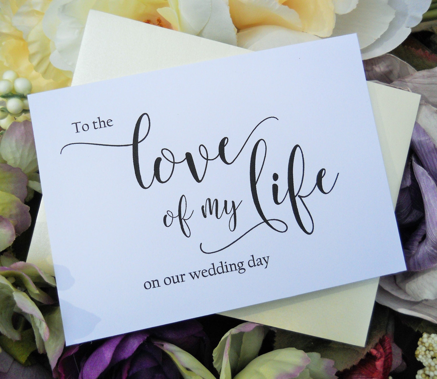 To The Love Of My Life Card Wedding Day Card Bride Wedding
