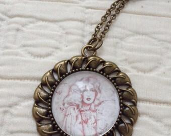Artwork necklace - 'Beatrice'