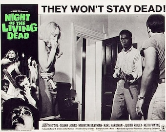 Night of The Living Dead (1968) Lobby Cards - Movie Posters Art - 8 Trading Cards Set