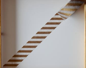 "Masking tape - pattern ""Gold CHEVRON"" - 1.5 cm x 10 m"
