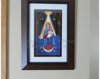 STELLA MARIS, Star of the Sea icon, signed GICLEE 8x14 size
