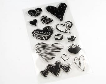 Clear stamp heart