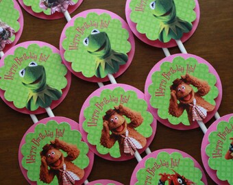 The Muppets Character Cupcake Tops with Pink