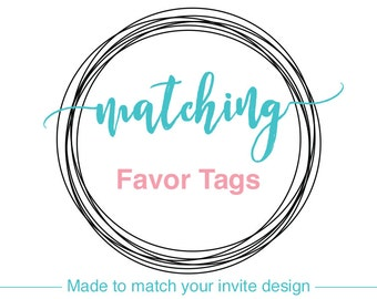 FAVOR TAGS, DIY Printable, Baby Shower Labels, Bridal Shower Decorations, Wedding, Party Decor