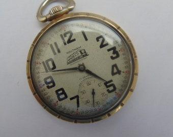 Waltham Swiss Made High Grade Unitas 6431 Railroad Pictured 16 Size, 17 Jewel Pocket Watch