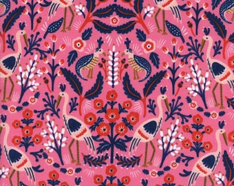 Les Fleurs - Tapestry Fabric - Rose - Sold by the 1/2 Yard