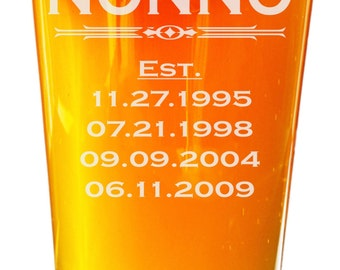 Nonno Gift, Nonno, Gift for Nonno, Fathers Day, Fathers Day Gift, Gift for Grandpa, Papa Gift, Abuelo, Grandpa Pint Glass, First Fathers Day
