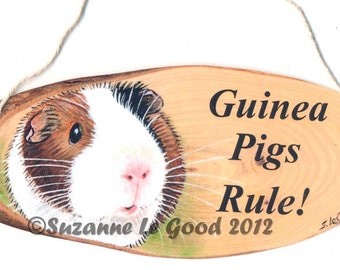 Original GUINEA PIG hanging SIGN by Suzanne Le Good