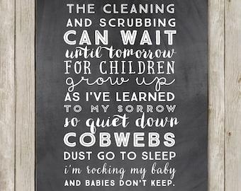 11x14 Babies Don't Keep Nursery Wall Art, Nursery Art Print, Typography Art Poster, Nursery Print, Digital Poster, Instant Digital Download
