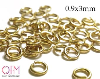 WHOLESALE Gold Filled Jump Rings 19 Gauge 0.9 x 3mm ID