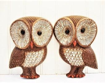 vintage owl wall plaques big eyes plastic wall decor