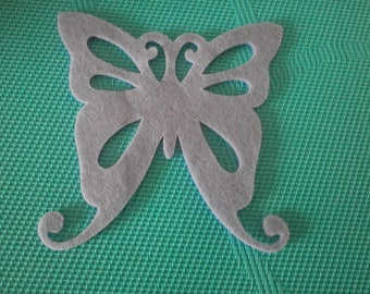 has 1 large Butterfly beige felt stick