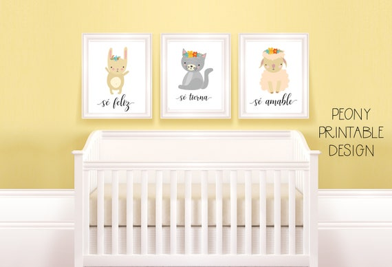 Spanish Baby Girl Nursery Prints Spanish Wall Art Printable