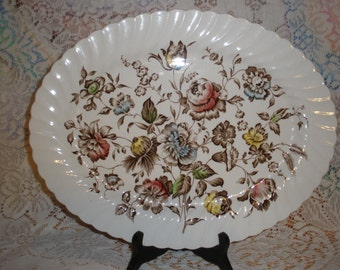 Johnson Bros Bouquet Platter Hanley Ltd Staffordshire Vintage 1970's Ironstone Serving Dining Holiday Table Replacement
