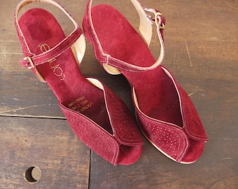 Perfect Size 6 Connie Soft Wedge Strappy Shoes / Platform Connie Shoes / Red Connie Shoes / Red Connie Clogs / Leather Connie Mules Slides