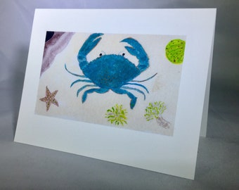 Blue Crab Greeting Cards (6 per pack)