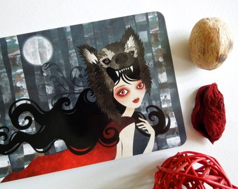 Red, Little Red Riding Hood, Limited Edition Postcard Postcrossing