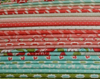 Last ONE! Moda Bonnie & Camille VINTAGE MODERN Fat Quarter Bundle of all 40 fabrics in the collection