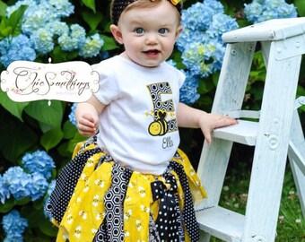 bee tutu, its my beeday tutu, bee costume, bee birthday shirt, bee shirt, bee birthday outfit, first birthday, bee halloween costume