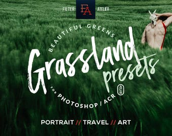 Grassland ACR Presets - Set of 28 cinematic presets for Adobe Photoshop - best for portrait, lifestyle & art photography