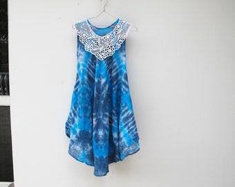 Blue Tie dye Sundress