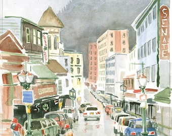 South Franklin St Juneau Alaska by Colin Herforth