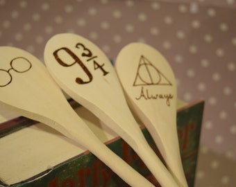 Harry Potter Wooden Spoons - Woodburnings