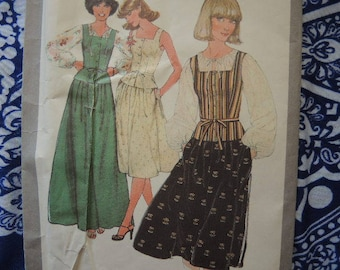 vintage 1970s simplicity sewing pattern 8301 misses blouse camisole and skirt size 10 UNCUT