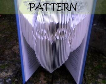 Book folding Pattern: OWL design (including instructions) – DIY gift – Papercraft Tutorial