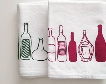 100% Cotton Tea Towel - Bottle pattern - Mother's day gift