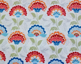 Large floral quilting fabric, autumn fall cotton fabric, fall fabric, quilting fabric sewing supplies, fat quarters pack, UK Quilt SHOP