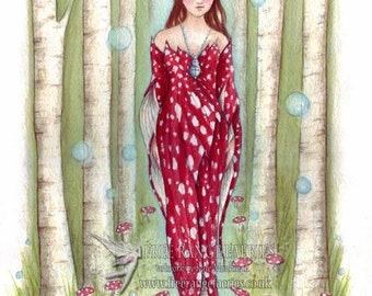 Brighid's Wood A4 Art Print