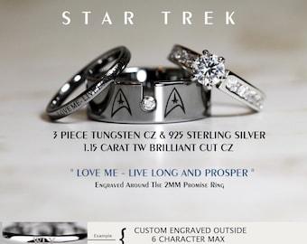 Star wedding ring Etsy