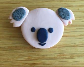 Handmade Polymer Clay Brooch/Pin - Kevin the Koala