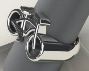 Beach Cruiser Bicycle Ring - 92.5 Sterling Silver - Any Size