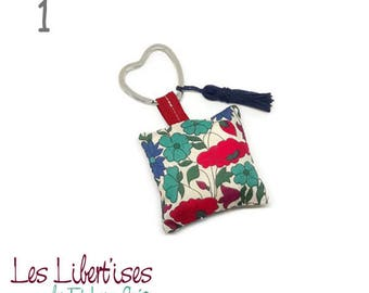 Key cushion in Liberty with tassel - 4 designs to choose from