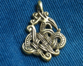 Amulet Celtic Snake Pendant Snake Celtic pendant The Celtic Serpent necklace