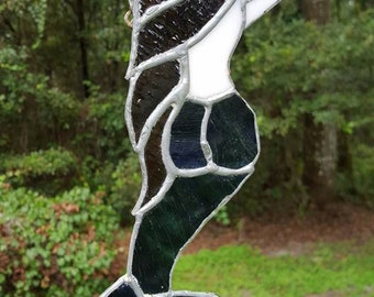 Custom Made Stained Glass Mermaid