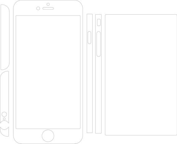 iphone 6 template iphone 6 plus skin template for cutting or machining digital 11428