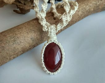Crystal Healing Necklace, Mookaite Necklace, Mookaite,  Red Jasper Mookaite, Mookaite Jewelry,  Stone Necklace, Red Stone Necklace