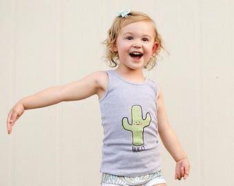 Saguaro Cactus Hug Tank Top 3M to 8 Youth ON SALE